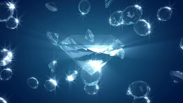 宝石のイラスト:困難を打ち破った報酬のイメージ