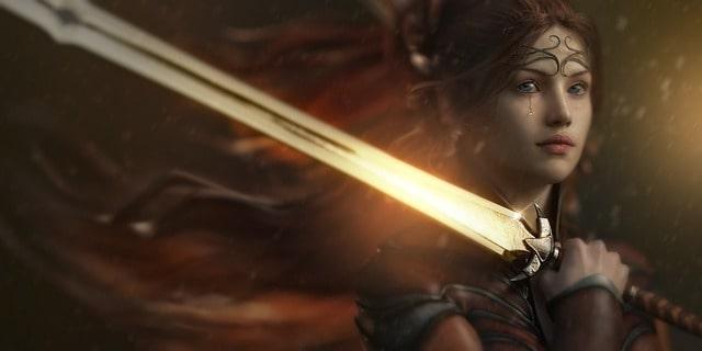 ファンタジーの女騎士都県の画像