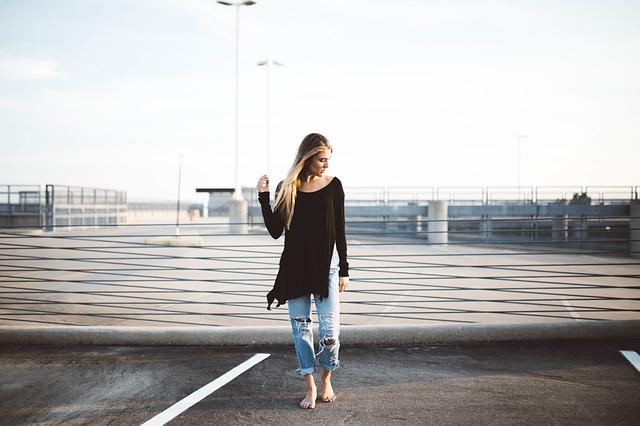 エフォートレスファッションの女性