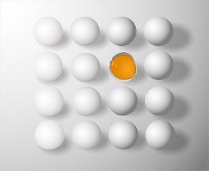 必要な情報を卵で表現