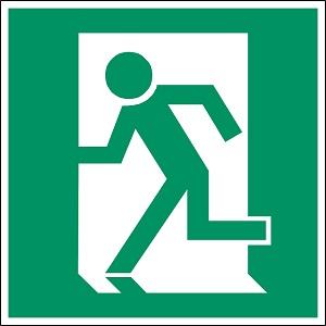 非常口(exit)もISO規格(ISO 7010)