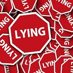 lying、詐欺、偽り、騙し