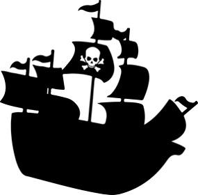 海賊船のイラスト:パイレーツアップデートのイメージ