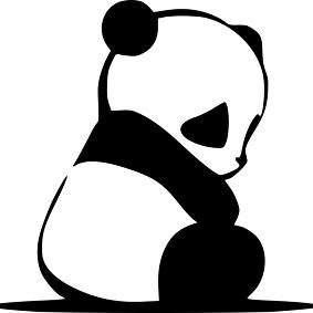 パンダのイラスト:パンダアップデートのイメージ