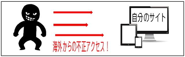 海外からの不正アクセスのイメージ画像:Teaching Others管理人による自作