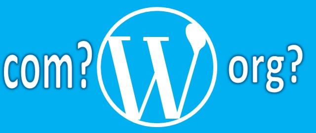 wordpressの「com」と「org」の違いをイメージした画像