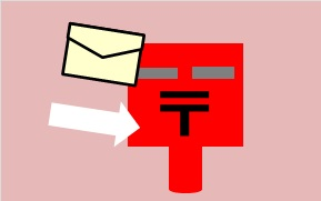 郵便ポストにメールの画像:お問い合わせフォームのイメージ、サムネイル画像