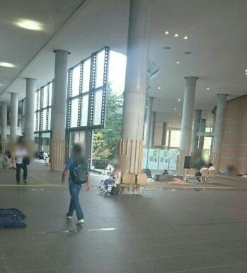 緊急避難所となった東札幌コンベンションセンターの様子