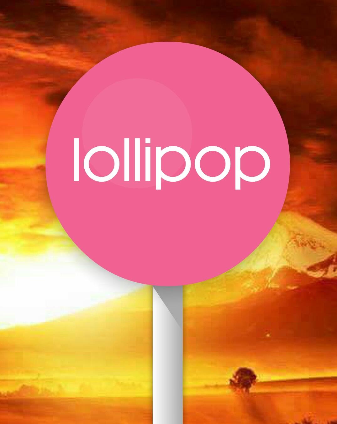 Androidイースターエッグlollipopのスクリーンショット:飴が大きくなった様子