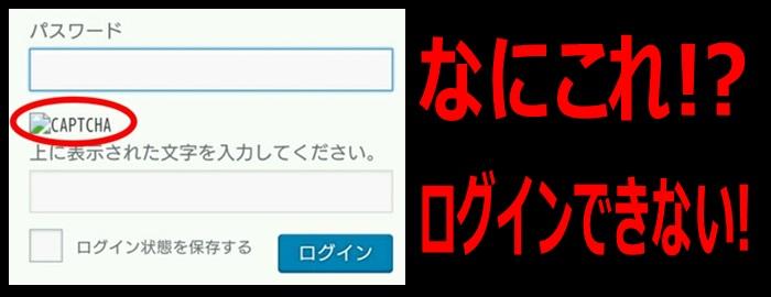 reCAPTCHA(リキャプチャ)の文字画像が表示されない状態の画像