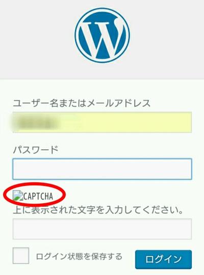 ログイン画面でreCAPTCHA(リキャプチャ)の画像が表示されない状態