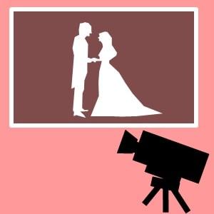 結婚式のムービーをイメージしたイラスト