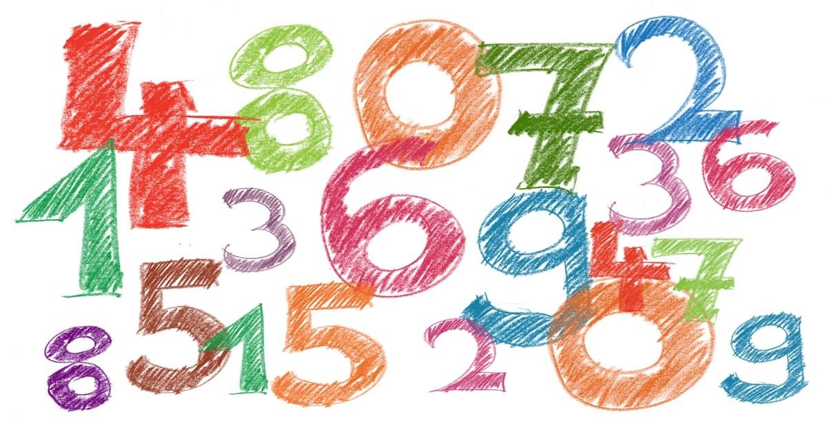 数字がランダムに並ぶイラスト