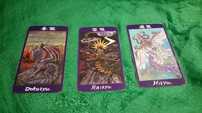 龍神カード:毒龍・雷竜・飛竜