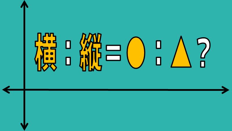 アスペクト比について|縦:横=何:何?